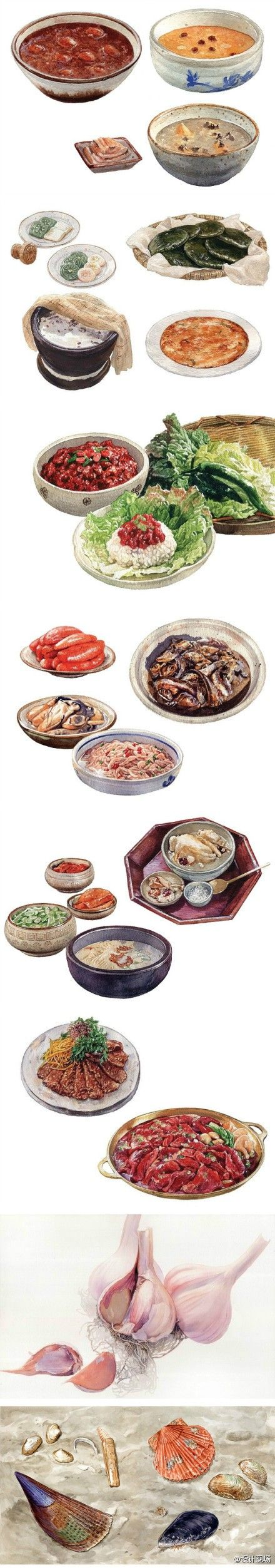 Drawing of food.