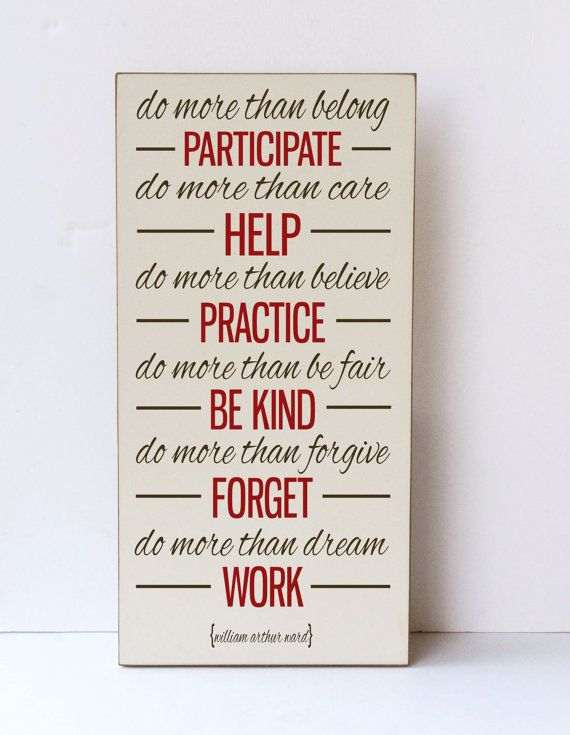 Inspiration quote wood sign do more than wooden wall art home decor