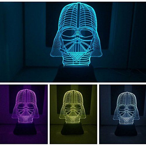 Padaday Star War Darth Vader 3d Optical Illusion Desk Table Light Lamp Amazon Com Star Wars Gift Guide Color Changing Led Star Wars Gifts
