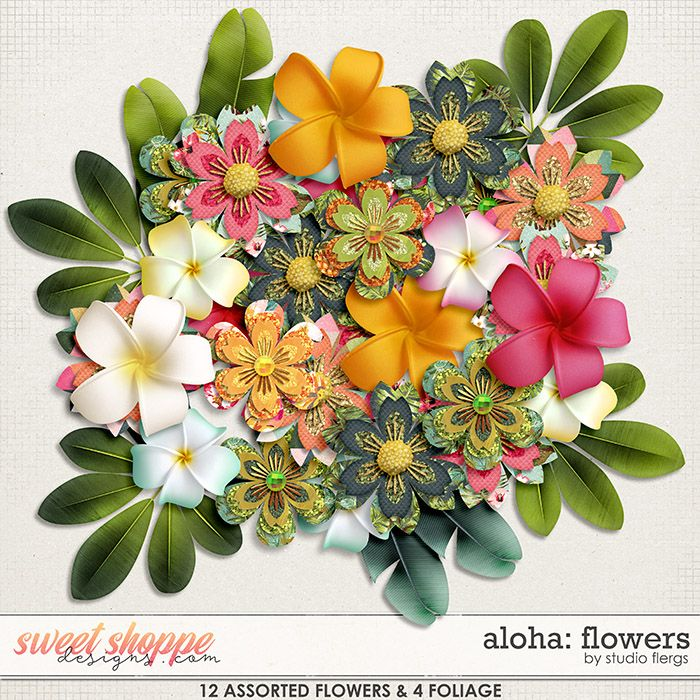aloha flowers by studio flergs studio flergs products pinterest