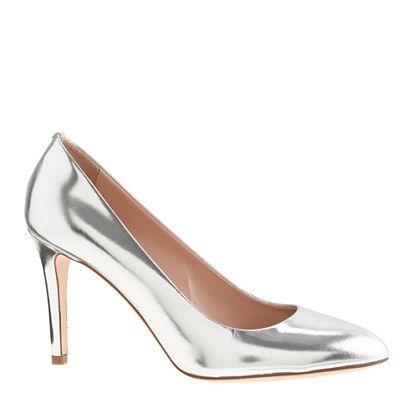 Sloane mirror metallic pumps. Silver ...