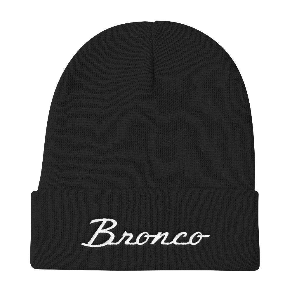 Ford Bronco Classic Vintage Retro Logo Embroidered Beanie