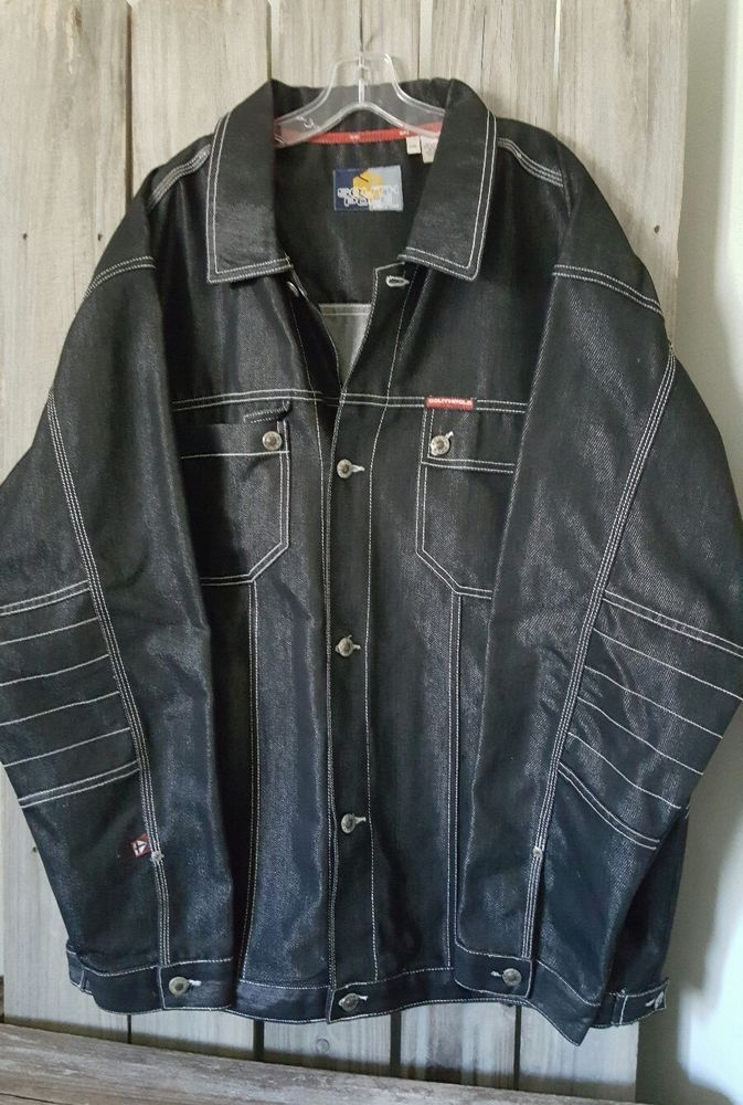 Ralph Lauren POLO Denim Trucker Jacket - Polo Denim Jacket- Medium Wash Moto Jacket - Street Wear - Hip Hop - Extra Large 5TtyS