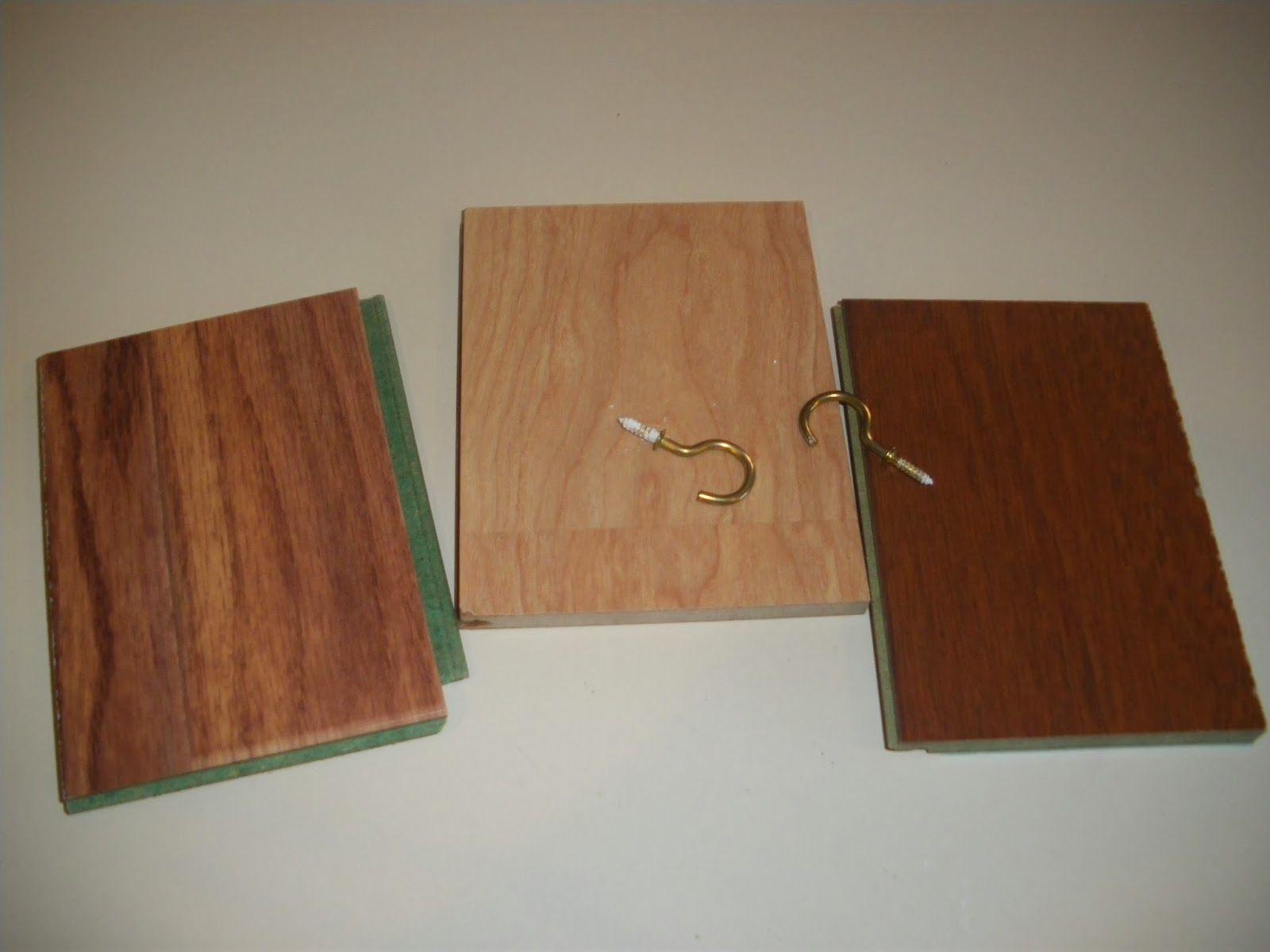 Floor samples to key holder wood sample key holder