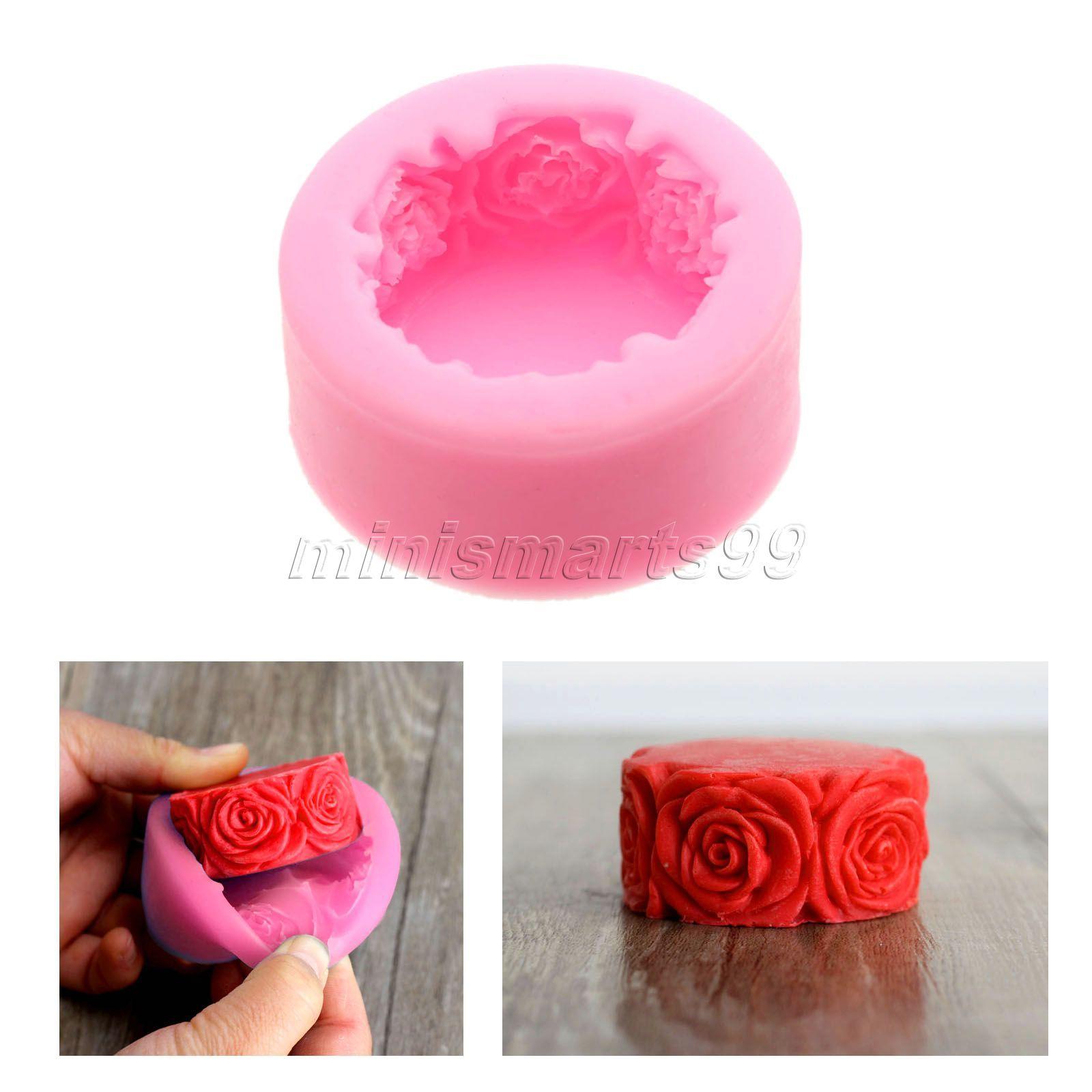 Nicole rose blumen rund silikonform formen für seife diy handwerk ...