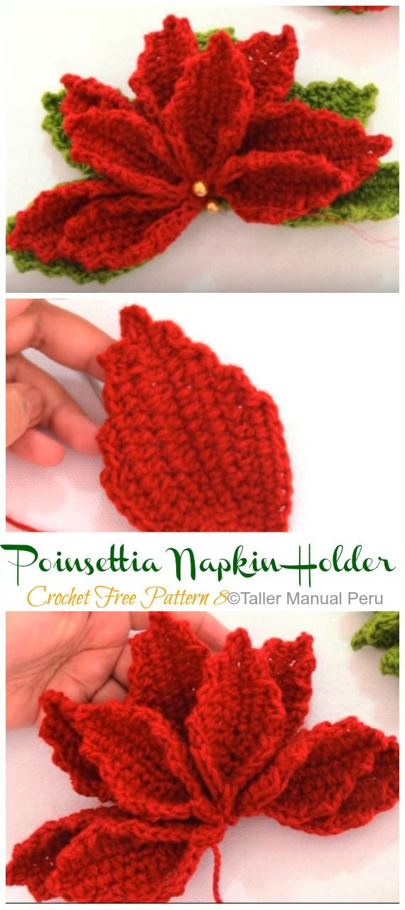 Beautiful Crochet Poinsettia Pattern Free Easy Crochet Christmas Crochet Patterns Free Crochet Rose Pattern Holiday Crochet Patterns