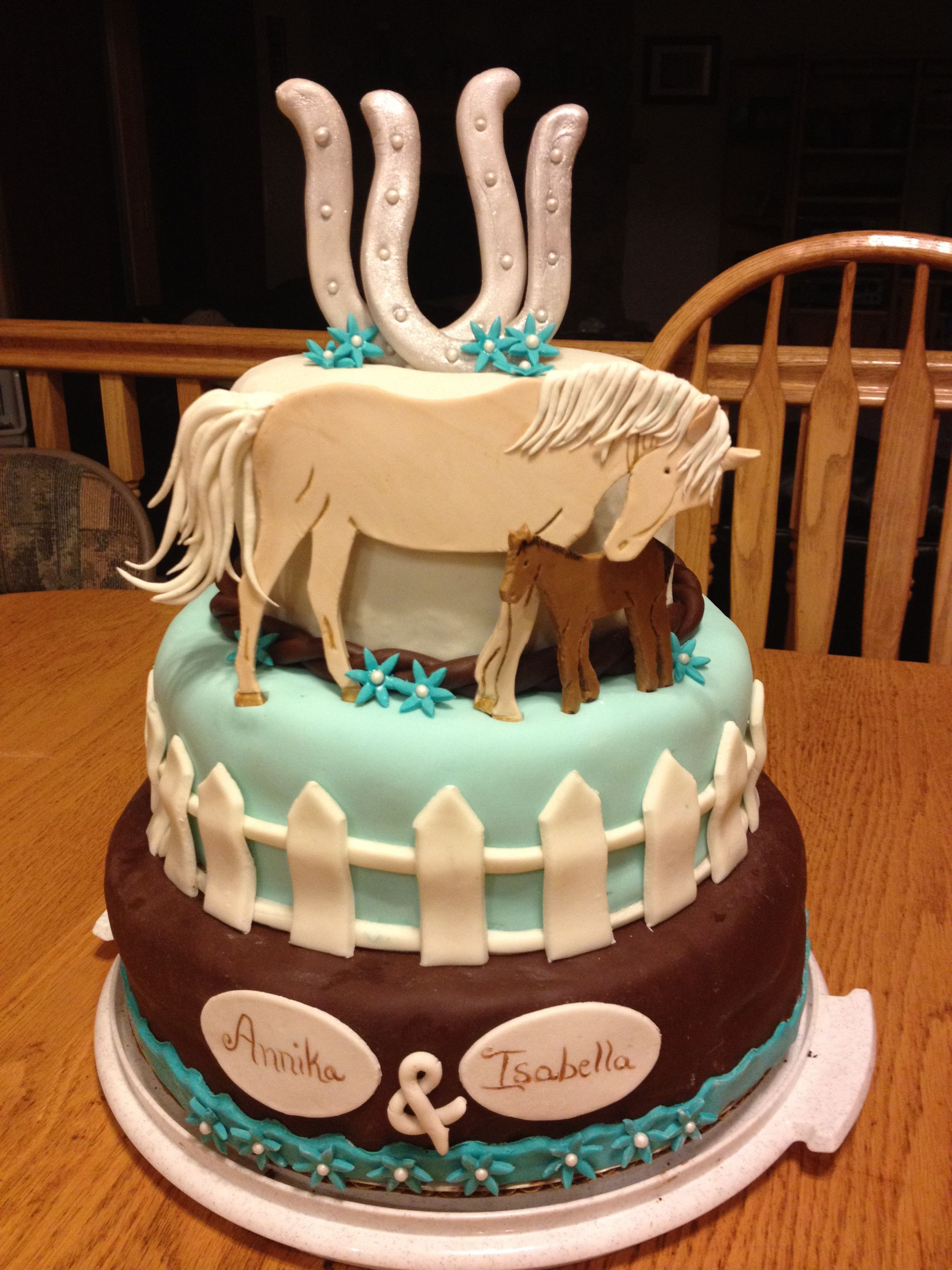 The horse birthday cake I designed and made for my twin ...