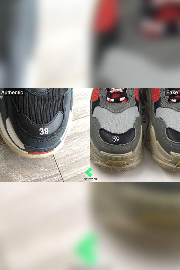 balenciaga fake vs original