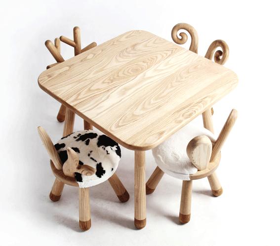 Little Cow Handmade Wooden Kids Chair Mini Me Ltd Wohnzimmer Hausdekoration Wohnung Einrichte Kindertisch Holz Stuhle Fur Kinder Kinderspielzeug Aus Holz