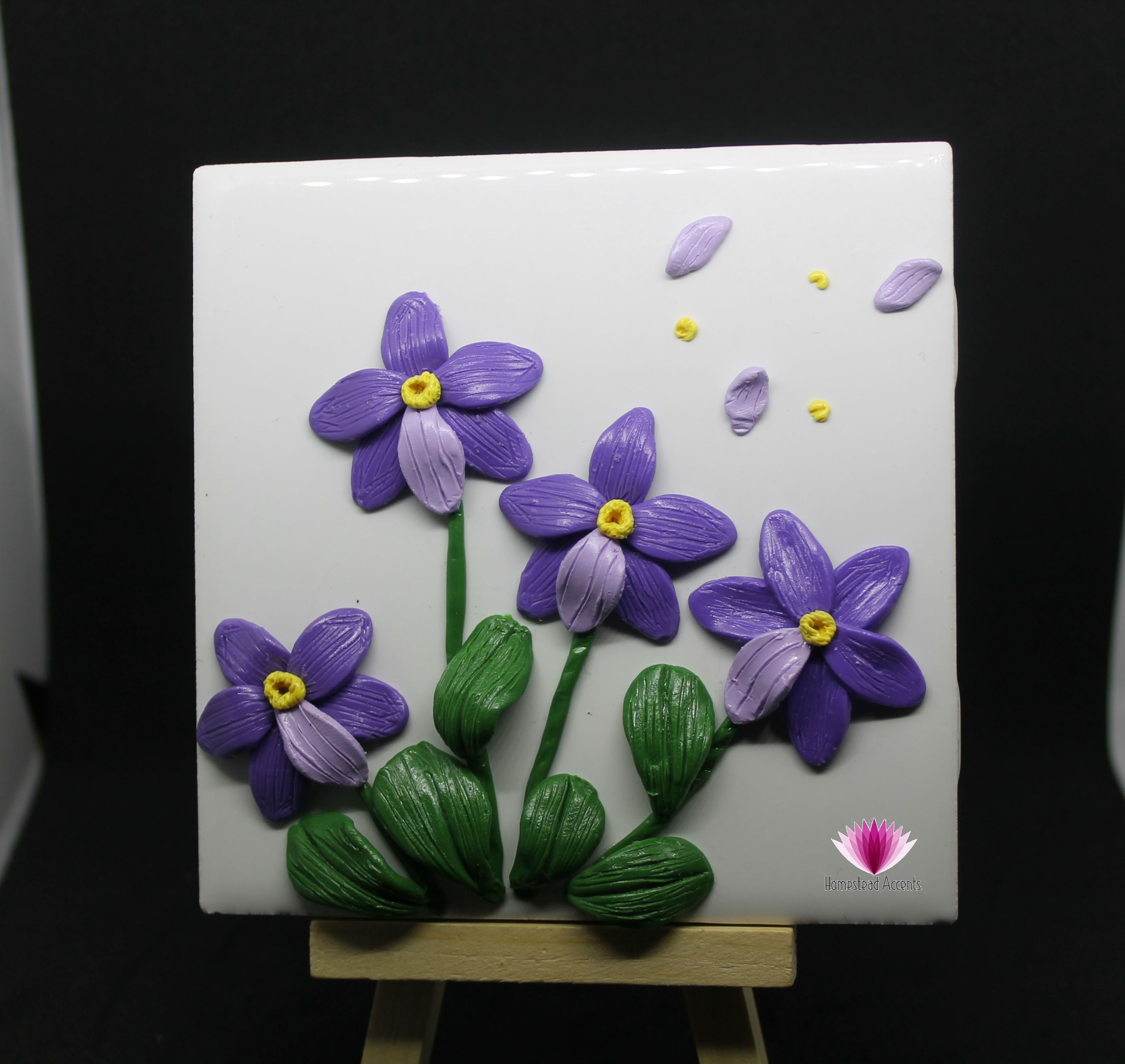 Purple Orchid Flower Keepsake Gift Unique Wall Art Conscious Crafties Clay Wall Art Wall Art Gift Orchid Wall Art