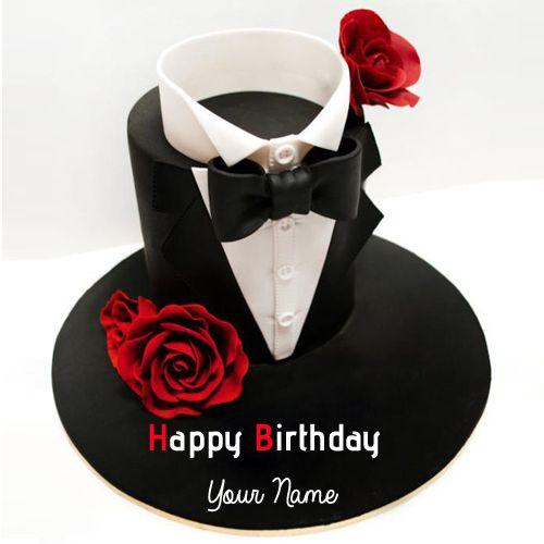 Write Name On Happy Birthday Handsome Boy Cake Hbd Cake