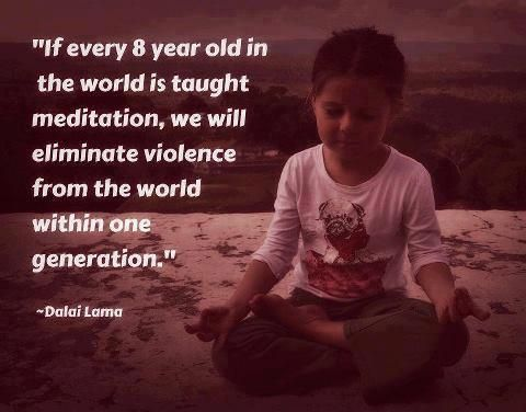 Meditación... Tomar en cuenta el espíritu de una u otra forma.