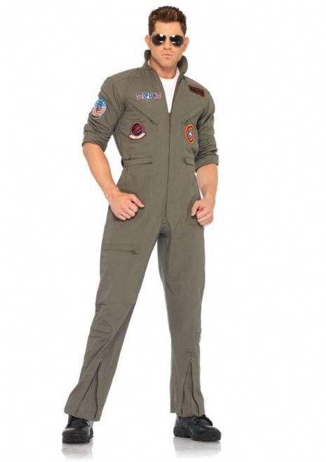 Perfect Top Gun Flight Suit Halloween Costume   2 PC. Top Gun Menu0027s Flight Suit,  Includes Zipper Front Flight Suit With Interchangeable Maverick And Goose  Name ...