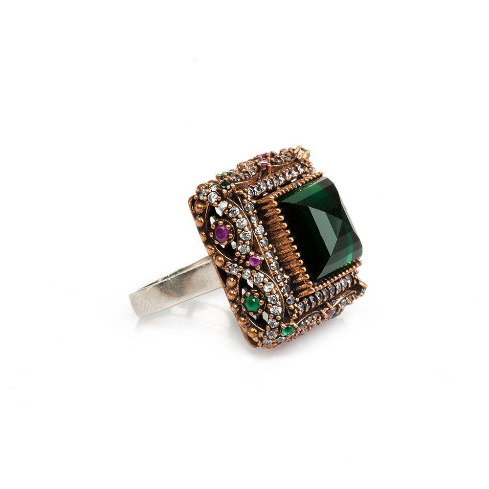 #fashion Square Sultana Silver Ring  #jewelry #ottoman