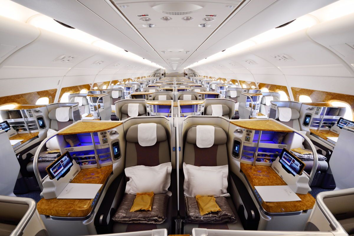Business Class on the Emirates Airbus A380. in 2019