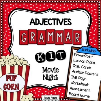 Adjectives - PowerPoint, Posters, Printables, Games {Bundle