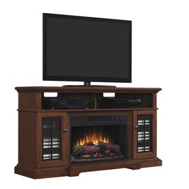 Style Selections 56 In W 4600 Btu Cherry Wood And Wood
