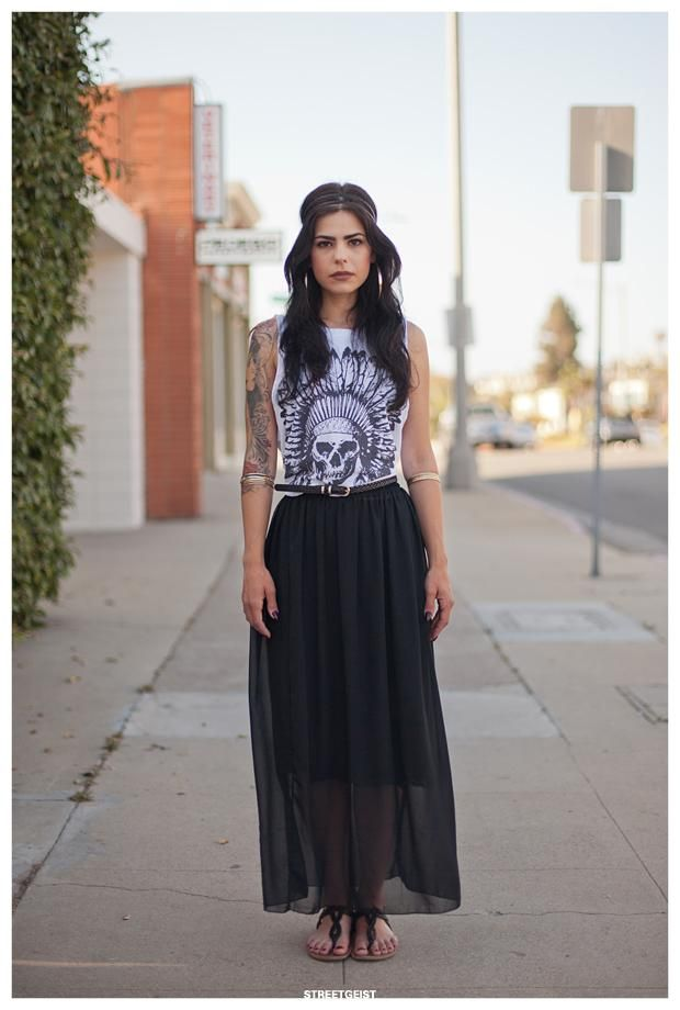 Sheer Black Maxi Skirt via Stockholm Streetstyle | Clothing ...
