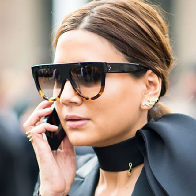 0e611619d5 2016 Shadow Brand Designer Fashion Celebrity Women Sunglasses Sun Glasses  Flat Top Shield Lady Female Superstar Oversize Shades