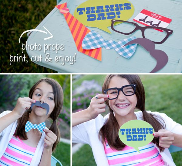 Cute printable Father's Day photo props