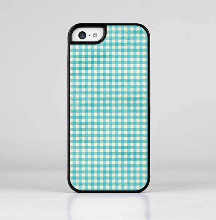 The Vintage Blue Plaid Skin-Sert for the Apple iPhone 5c Skin-Sert Case