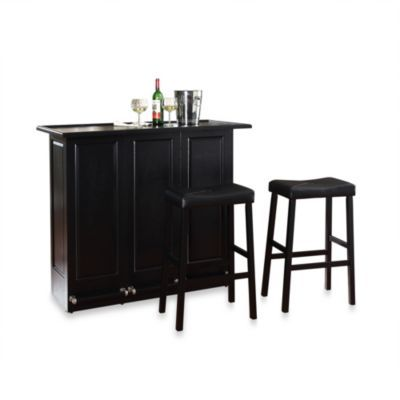 Brilliant Crosley Folding Bar Cabinet With 29 Inch Saddle Stool Pabps2019 Chair Design Images Pabps2019Com