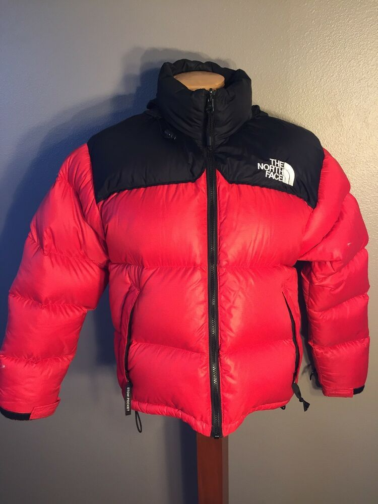 8922870952ac The North Face Vintage Nuptse 700 Down Puffer Jacket Coat Red Womens Medium  AsIs  fashion  clothing  shoes  accessories  womensclothing   coatsjacketsvests ...