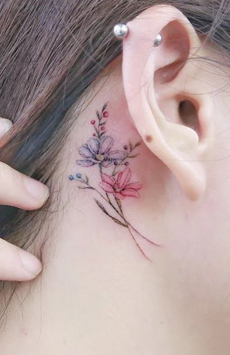 Beautiful Small Flower Tattoo for Women
