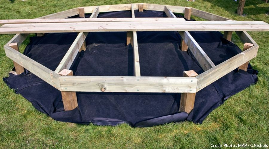 Créer une terrasse en bois  le pas à pas Terrasses en bois - Terrasse Sur Pilotis Metal