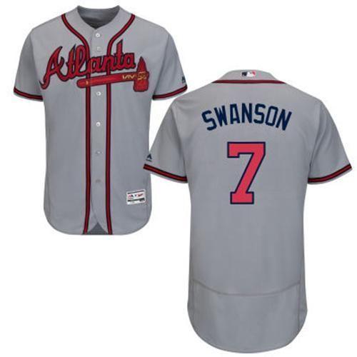 77b6479c667 Atlanta Braves Cool Base MLB Custom Gray Jersey