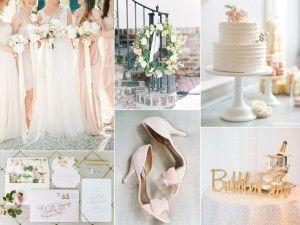 Light and airy blush wedding inspiration board