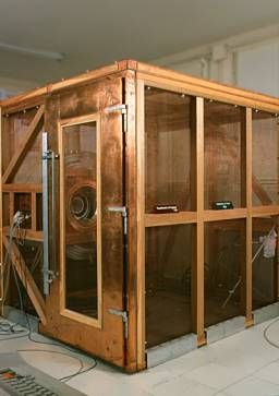 A Faraday cage is a sealed enclosure with one or more