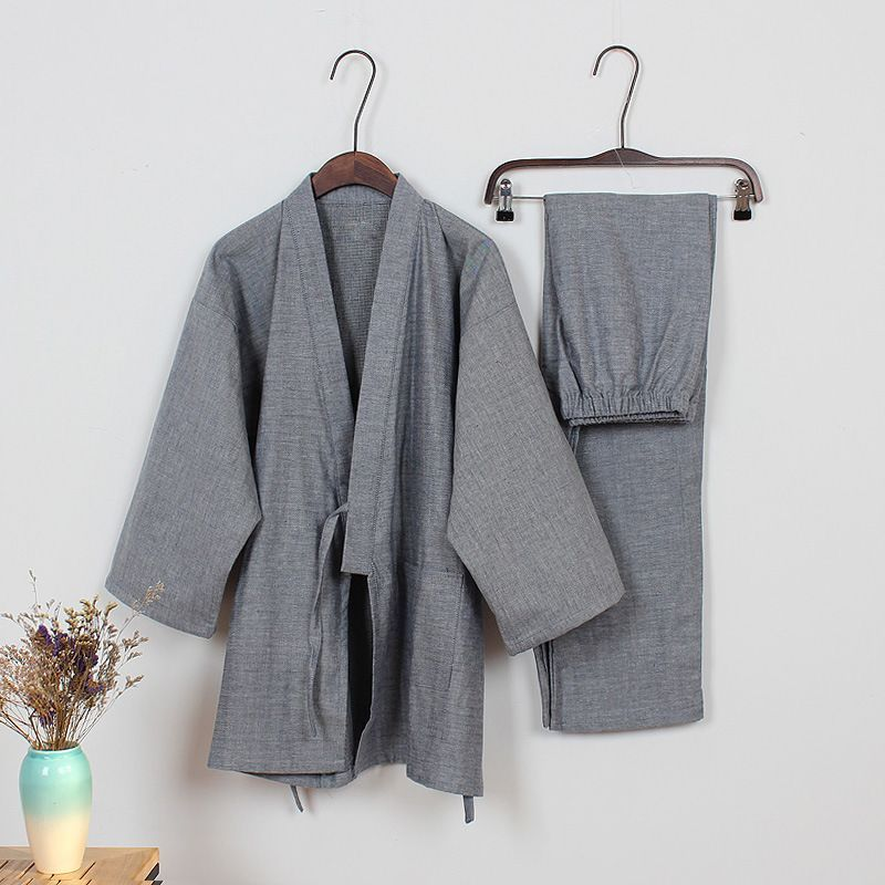 Sping cotton japanese pajamas Mens kimono pajamas sets pyjamas Robes ...