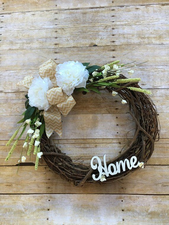 Photo of Summer Wreath, Grapevine Wreath, Spring Wreath Front Door, Everyday Wreath, Gift for Her, Home Sign, Farmhouse Wreath, Home Decor