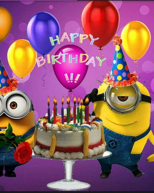 happy birthday minion … with images  happy birthday