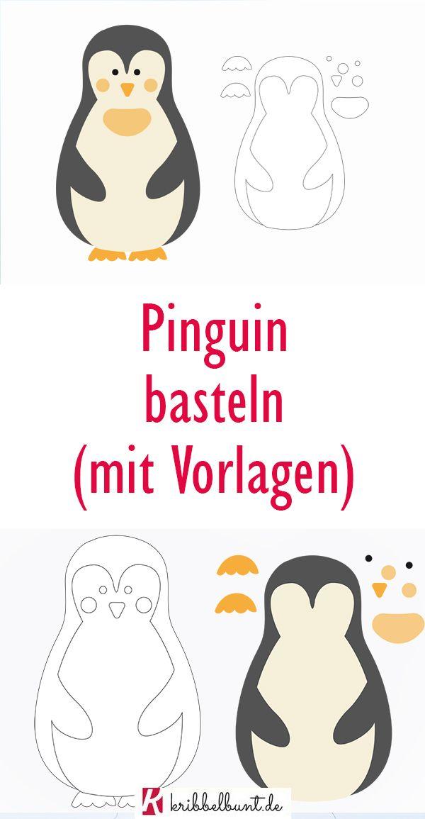 Pinguin Basteln Fensterbild Icedrake Blog 1