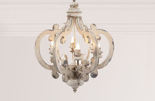 $135 On Decor Steals Distressed Wood Chandelier | Chandeliers | White  Chandelier