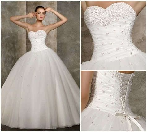 Cheap Price ! 2014 New Free Shipping A Line Sweetheart Beading White ...