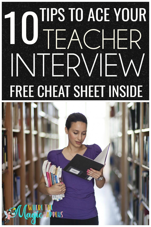 Ten Tips to Ace Your Teacher Interview | Teacher ...