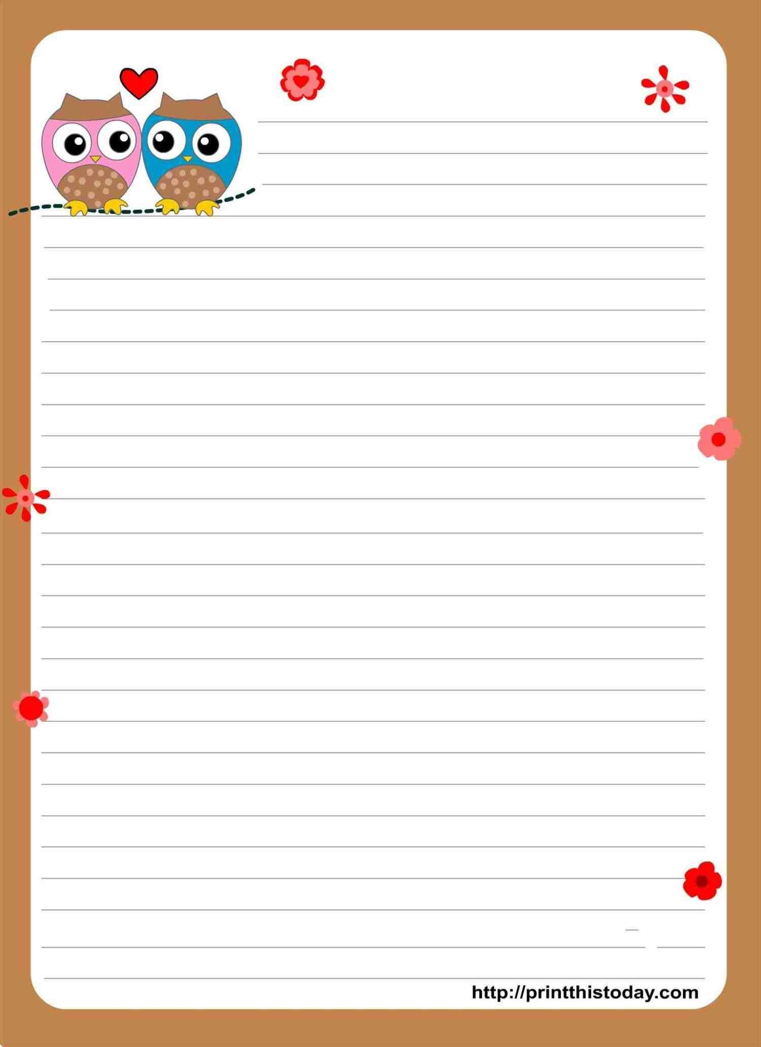 New Post Free Christmas Letter Paper Templates With Lines  Xmast