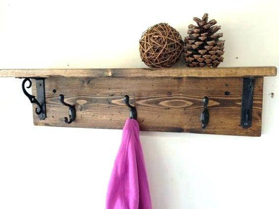 Decorative Shelf With Coat Hat Key Hooks In 2019 Products