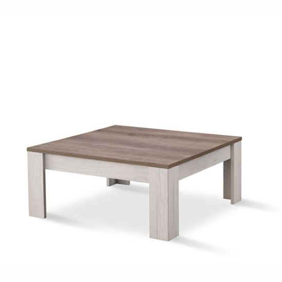 Alpina Coffee Table Square In Oak With Distressed Effect