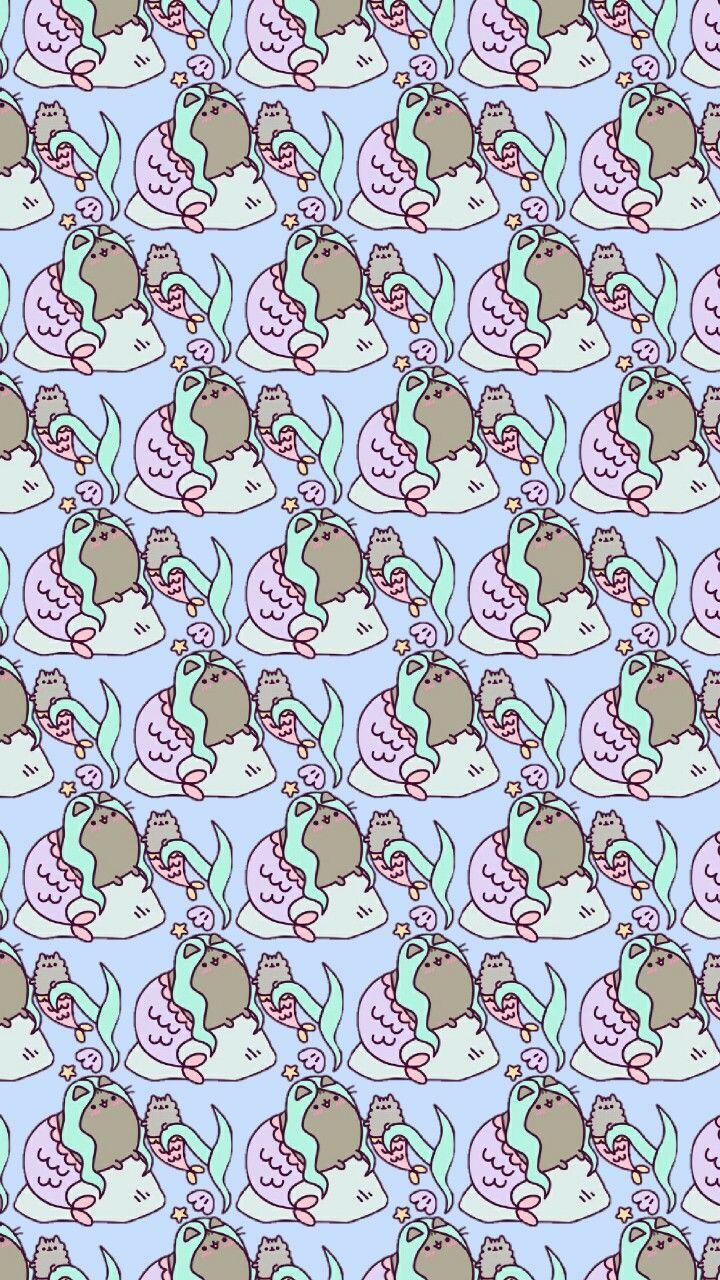 Pusheen background, pusheen pattern, pusheen, pusheen the cat ...