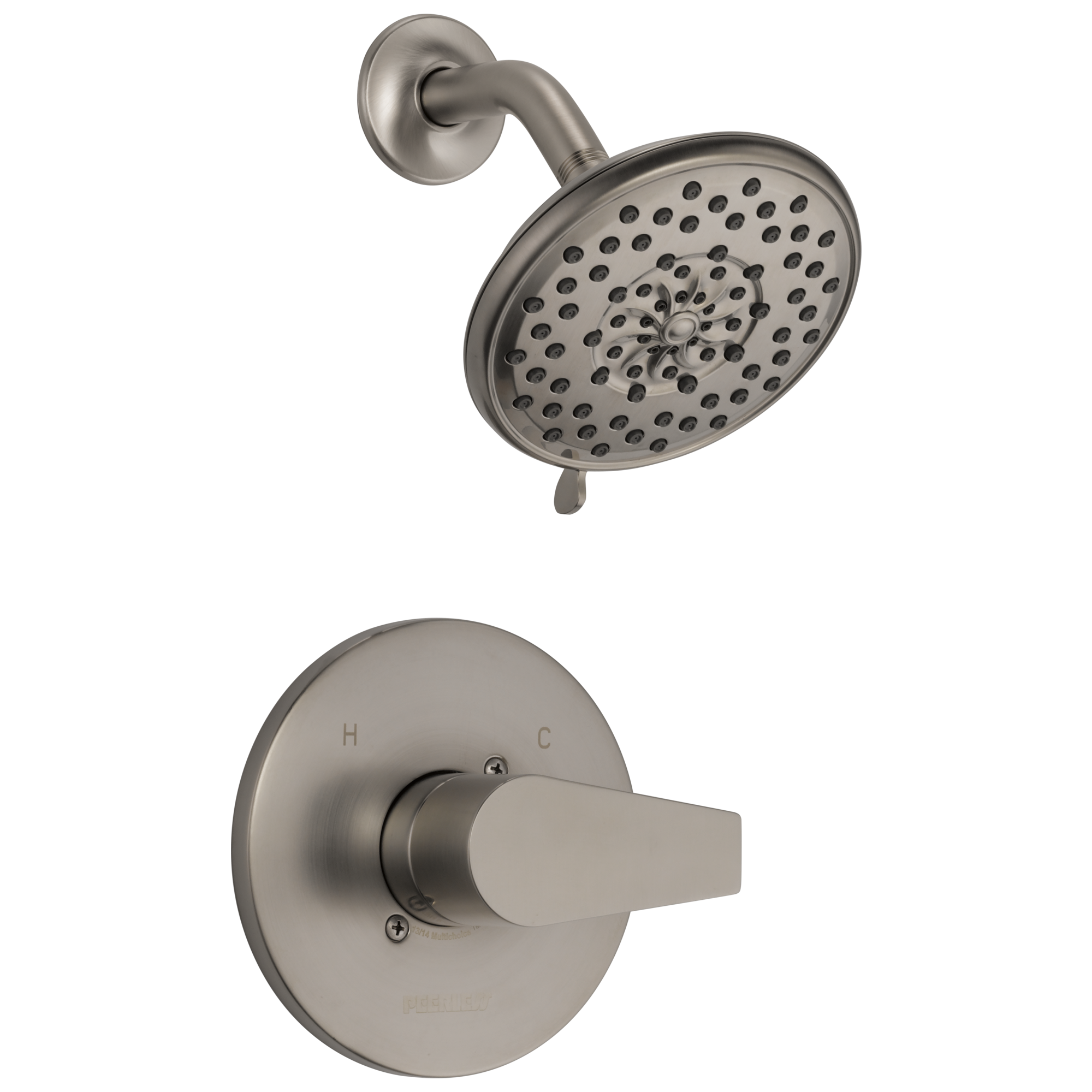 Peerless Faucet Ptt14219 Bn Shower Only Multichoice Brushed