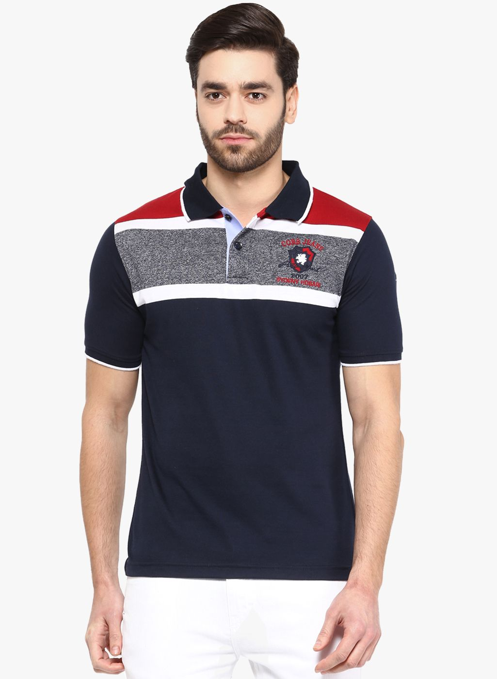 0212045b Buy Cobb Navy Blue Solid Polo T-Shirt for Men Online India, Best Prices,  Reviews | CO399MA37ZZUINDFAS