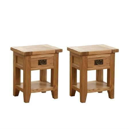 Vancouver Oak Set of 2 Small Bedside Tables Quality wooden furniture at  great low prices from