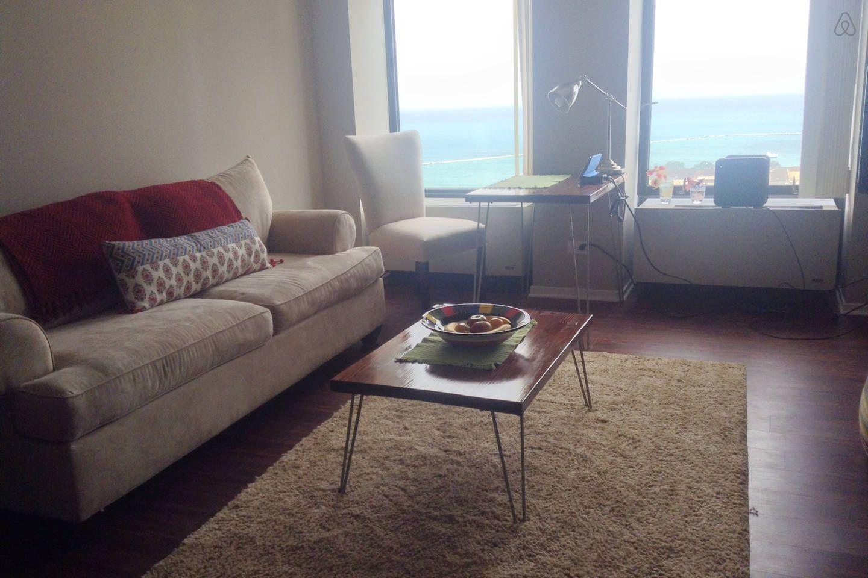 Pier View Studio with Free Parking - vacation rental in Evanston, Illinois. View more: #EvanstonIllinoisVacationRentals