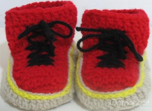 Dr. Martens Crochet Baby Booties