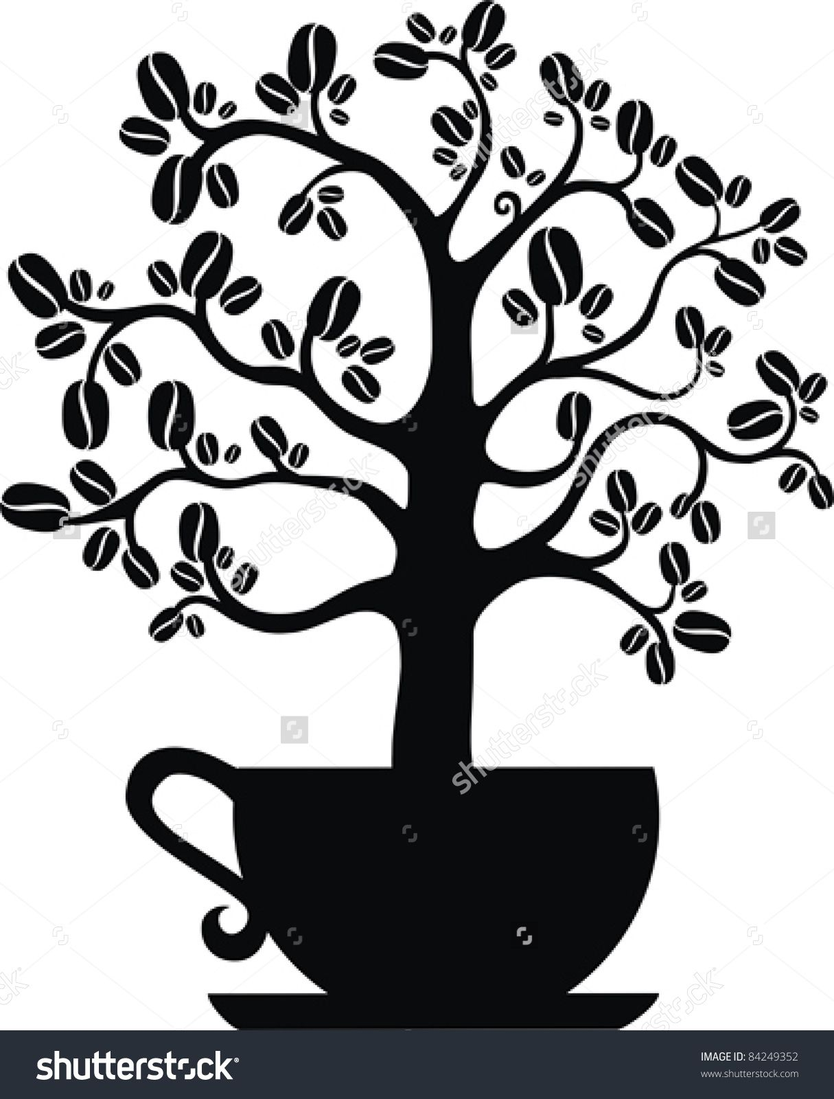 Image result for coffee plant with roots clipart Coffee