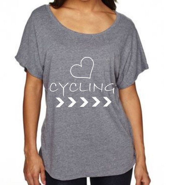 Womens Dolman TriBlend Shirt Heart Cycling by EmeraldThreadz, $26.50